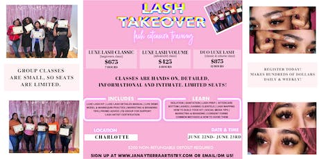 MINK LASH TRAINING - CLASSIC AND VOLUME  tickets