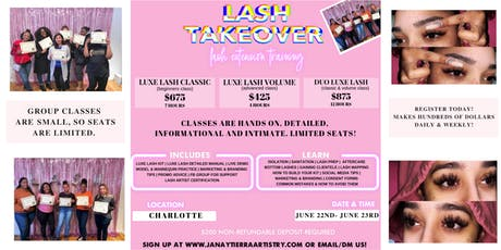 Mink Lash Class - Volume / Classic Training - Hands On tickets