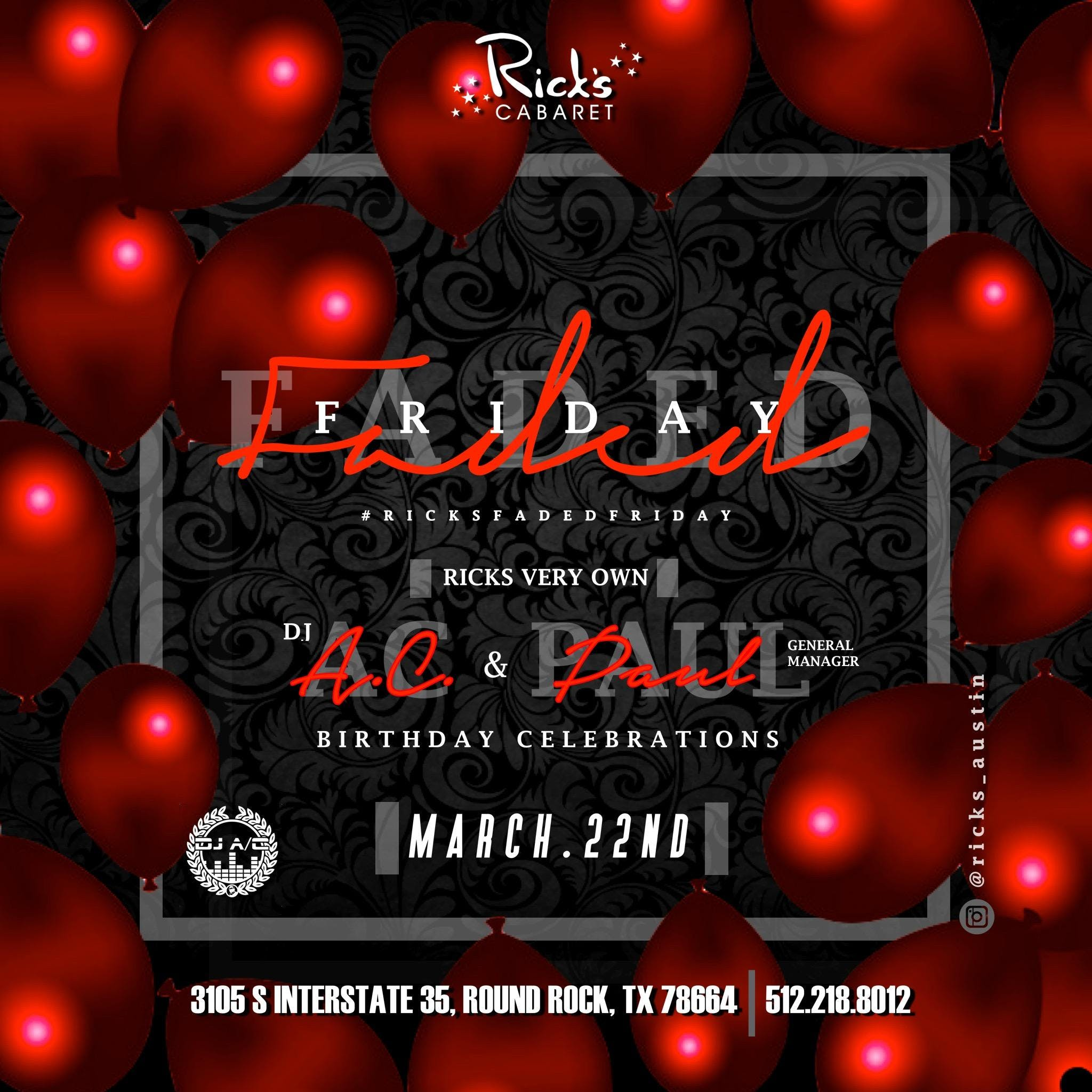 FADED FRIDAY w/ DJ A/C & Lily S.