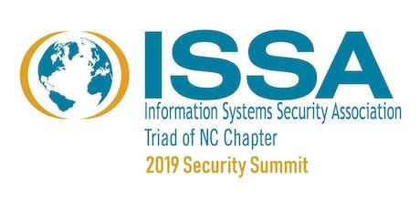 2019 Security Summit Triad of NC ISSA Sponsor Registration tickets