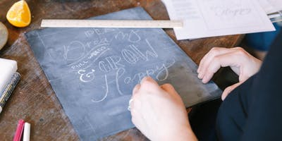 Chalk lettering and florals class