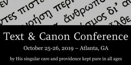 Text and Canon Conference tickets