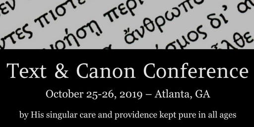 Text and Canon Conference