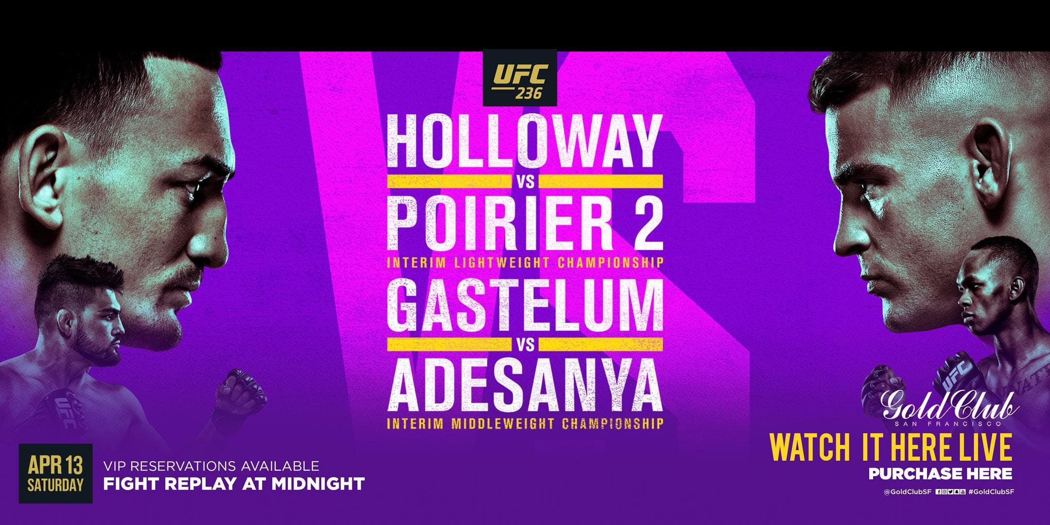 Watch UFC 236 Holloway vs. Poirier 2