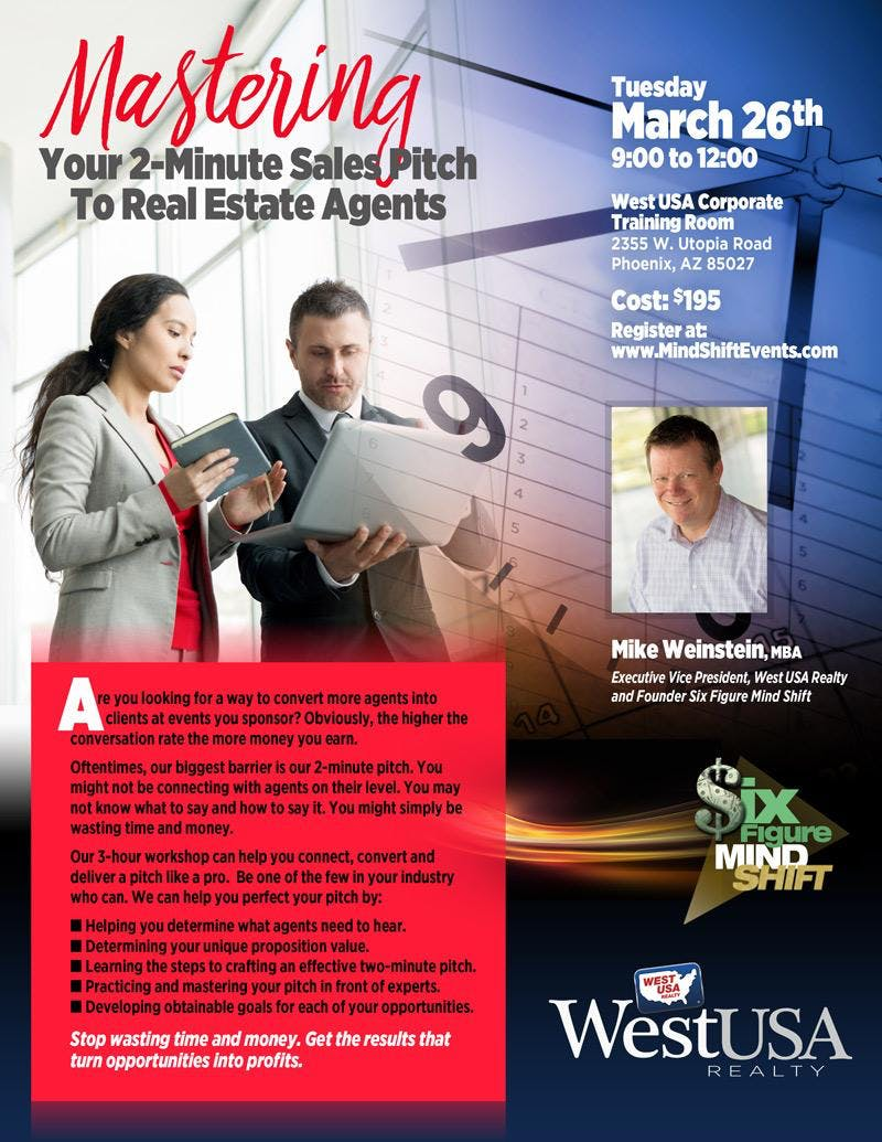 Mastering Your 2-Minute Sales Pitch to Agents