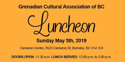 Luncheon hosted by the Grenadian Cultural Association of BC