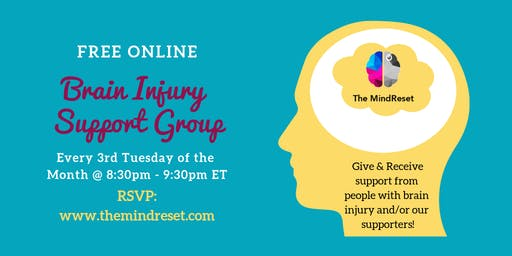 The MindReset Brain Injury Support Group Online