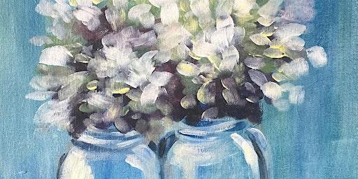 Sip & Paint Workshop' Heavenly Hydrangeas'