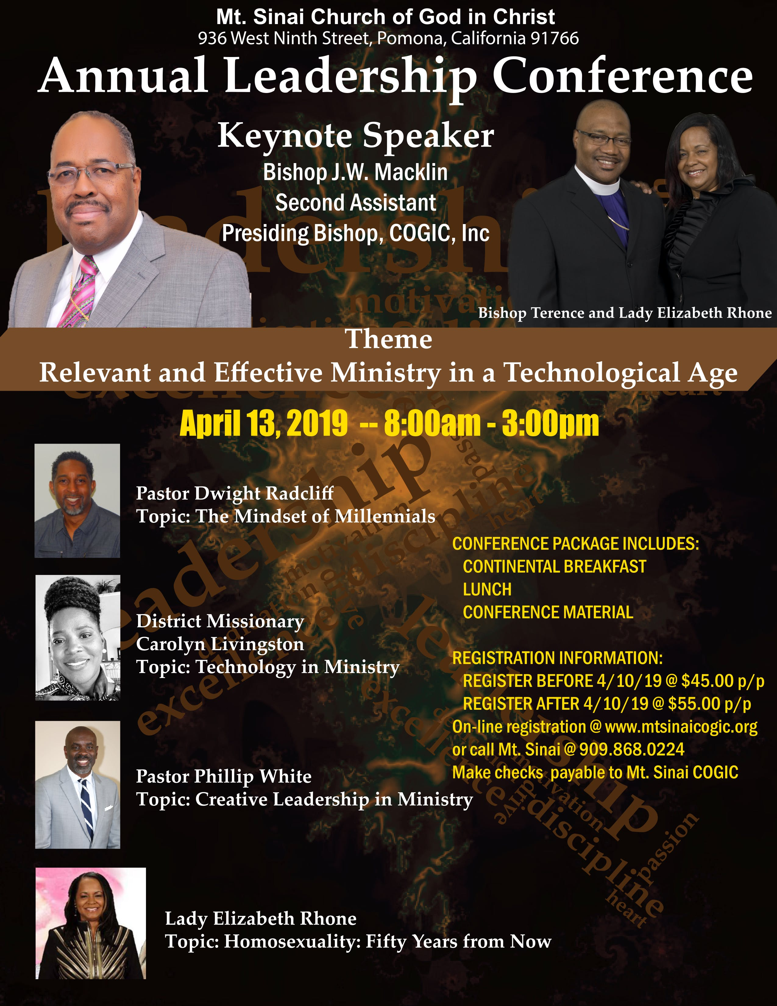 Mt Sinai COGIC - Annual Leadership Conference - 13 APR 2019