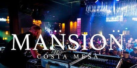 Mansion Nightclub OC FREE Guest List tickets