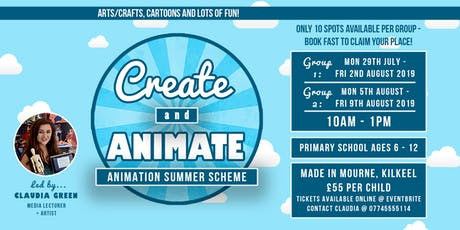 Create and Animate 2019 tickets