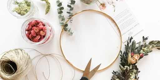 Dried Floral Hoop Workshop!