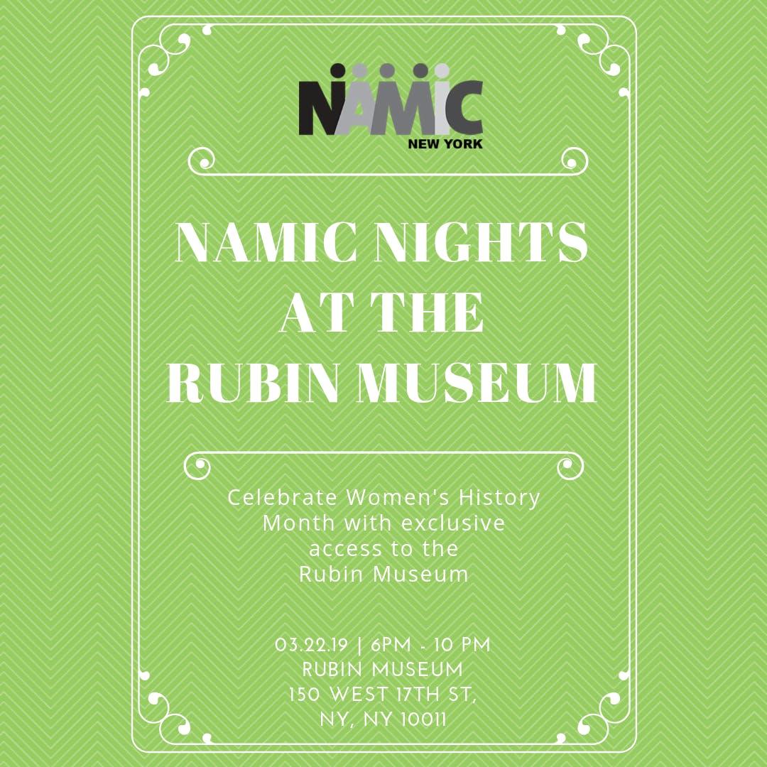 NAMIC Nights at the Rubin Museum