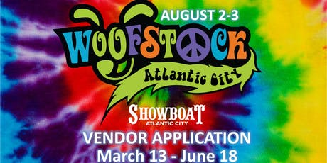 Woofstock Atlantic City Vendor APPLICATION ONLY tickets