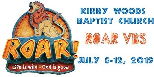 Kirby Woods Baptist ROAR VBS 2019