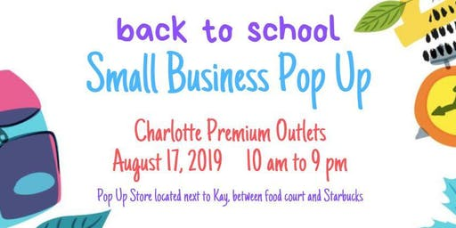 Back to School Small Business Pop Up Shop