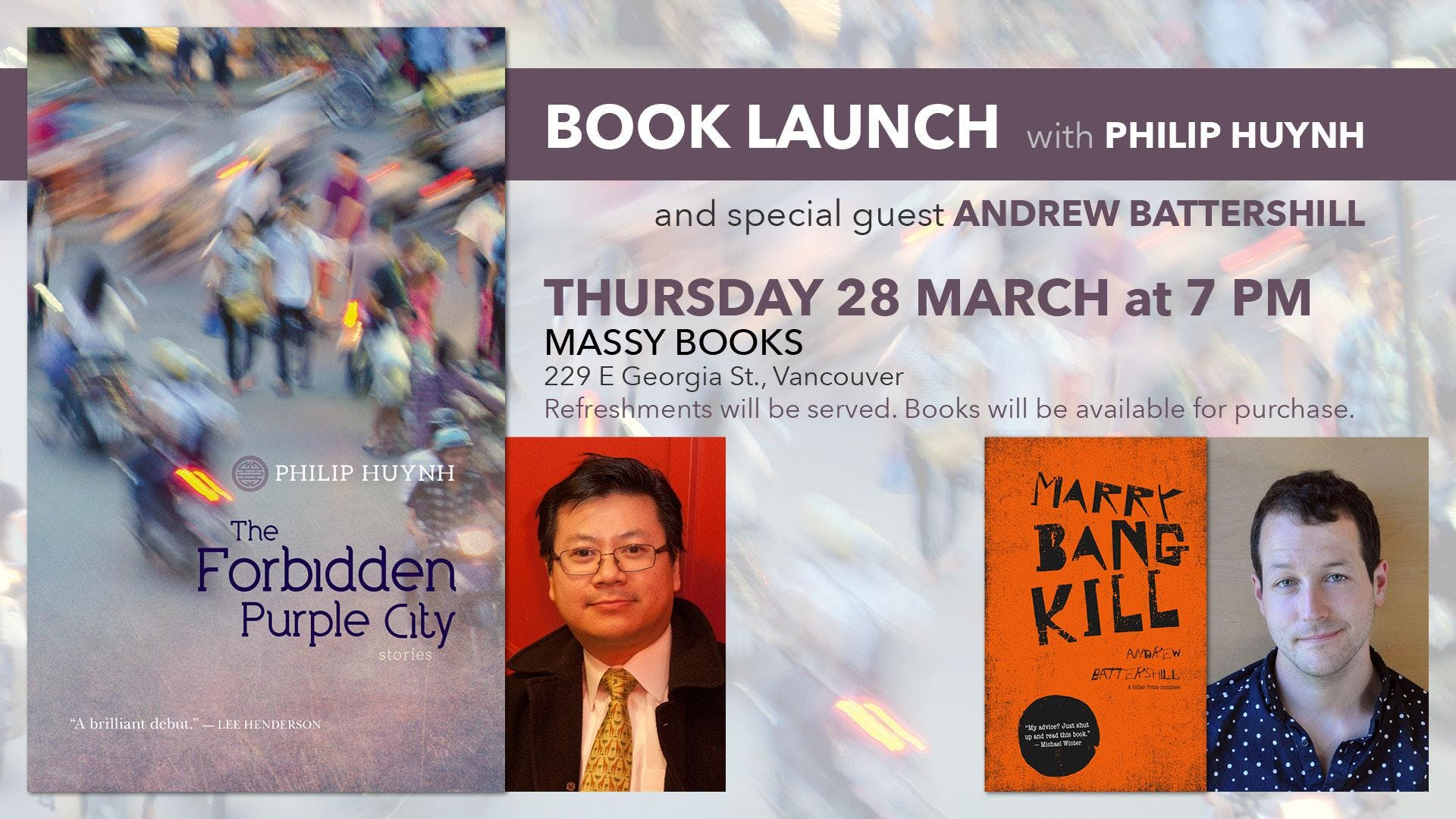 Philip Huynh Vancouver Book Launch