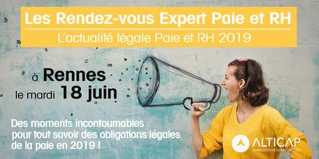 Les Rendez-vous Expert Paie & RH - Rennes billets