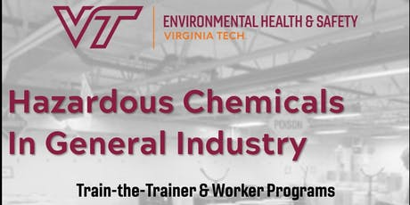 Hazardous Chemicals in General Industry Train-the-Trainer tickets