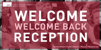 Welcome/Welcome Back Reception Summer 2019