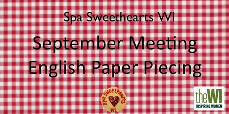 September Meeting - English Paper Piecing tickets