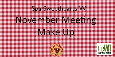 November Meeting - Make up tickets