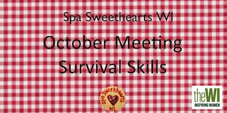 October Meeting - Bushcraft and Survival Skills tickets