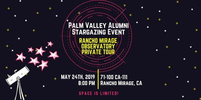 Palm Valley Alumni Stargazing & Observatory Tour