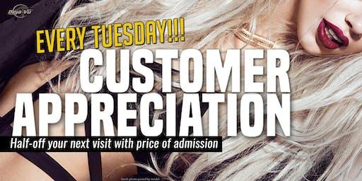 Customer Appreciation Tuesdays at Deja Vu Showgirls Tacoma!