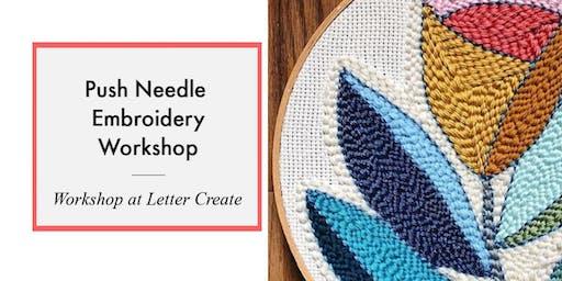 Push Needle Embroidery Art Class
