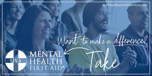 Mental Health First Aid – June 27 and 28, 2019 – Richmond