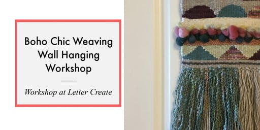 Boho Chic Wall Weaving Hanging – Basic Weaving and Loom Techniques