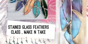 Mini and Large Stained Glass Feather Class by Cherokee...