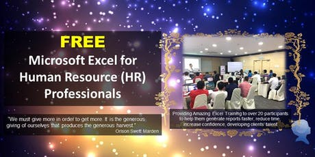 Free Microsoft Excel for Human Resource (HR) Professionals tickets