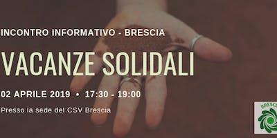 Incontro Vacanze Solidali 2019 Brescia. DATA UNICA!