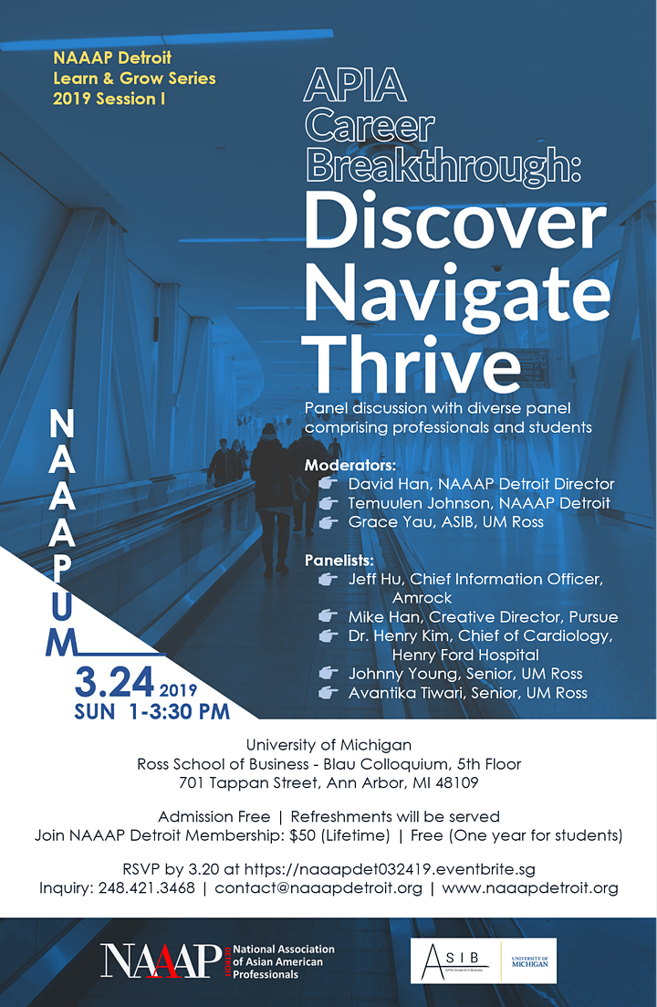Learn & Grow Series: APIA Career Breakthrough - Discover, Navigate, Thrive image