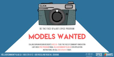 Model Callout (55+) - Be The Face of The SPICE Program!
