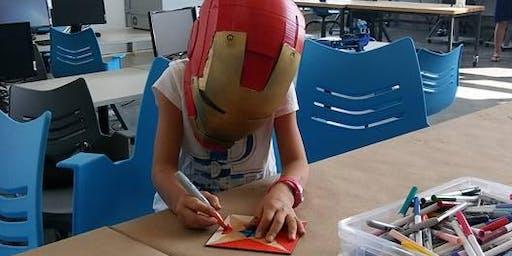 Summer Camp- Fab Lab ART CAMP- 4 days kids, laser, Tangrams, Pattern blocks