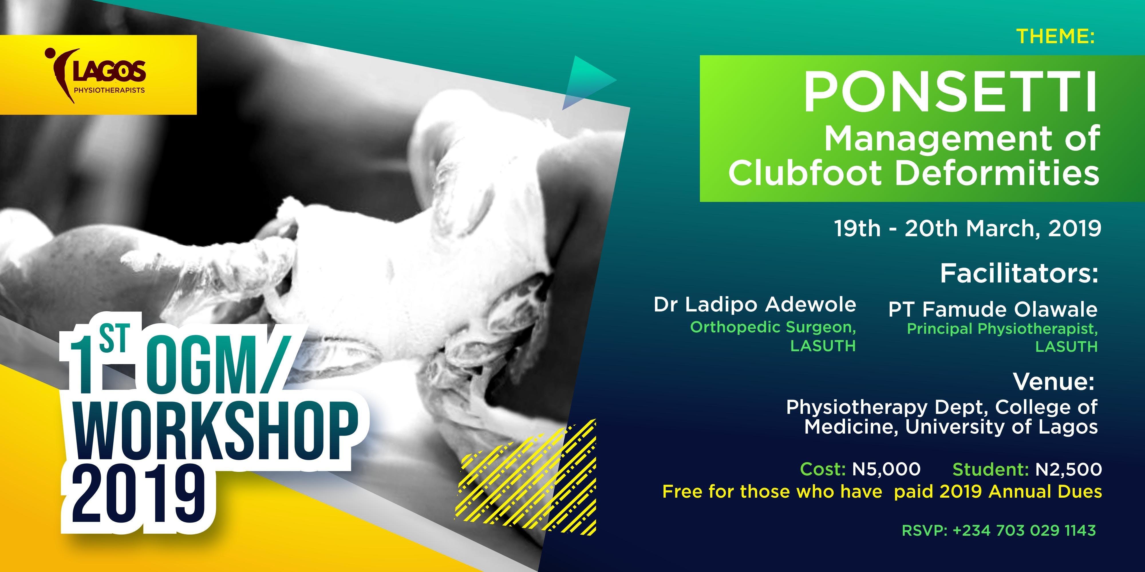 Lagos Physiotherapists' 1st OGM / Ponsetti Wo