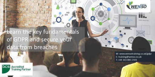 BCS CERTIFIED GDPR FOUNDATION COURSE