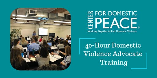 40-Hour Domestic Violence Advocate Training