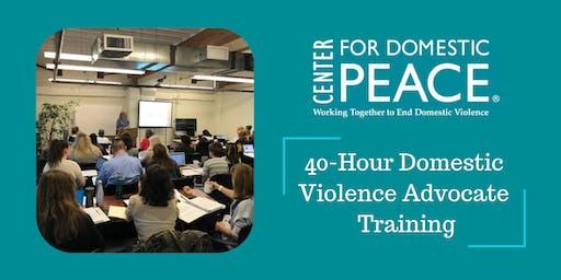 40-Hour Domestic Violence Advocate Training