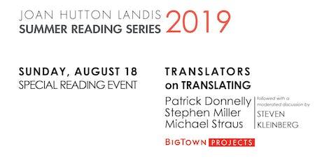 SPECIAL READING EVENT: Translators on Translating tickets