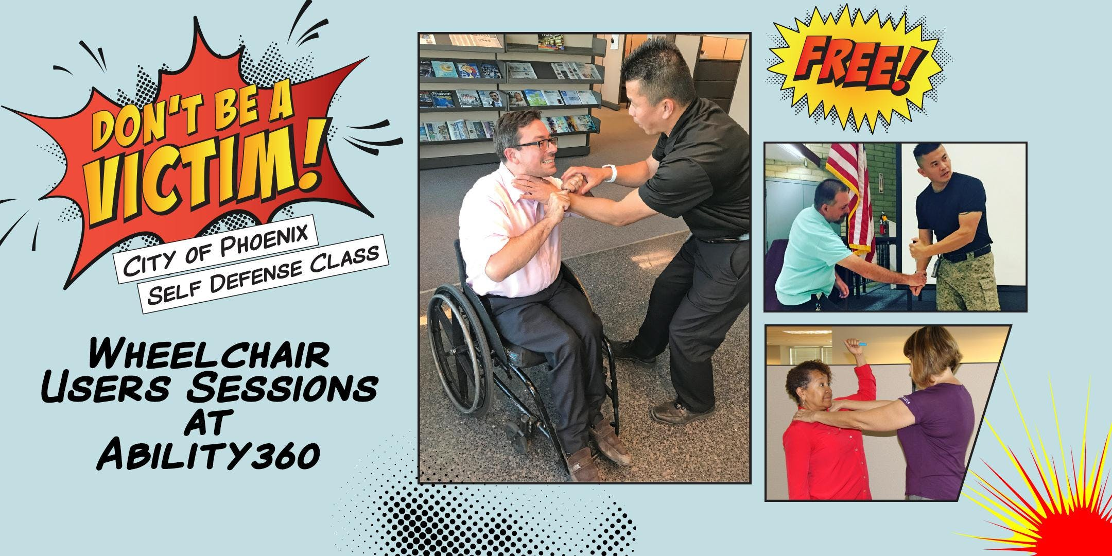 Don't Be a Victim- Self Defense Class for Wheelchair Users