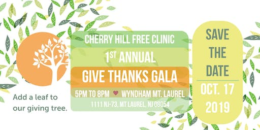 Cherry Hill Free Clinic 1st Annual Give Thanks Gala