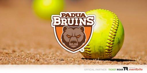 Padua Franciscan - Bruin Softball Camp (Grade 4-8 Girls)