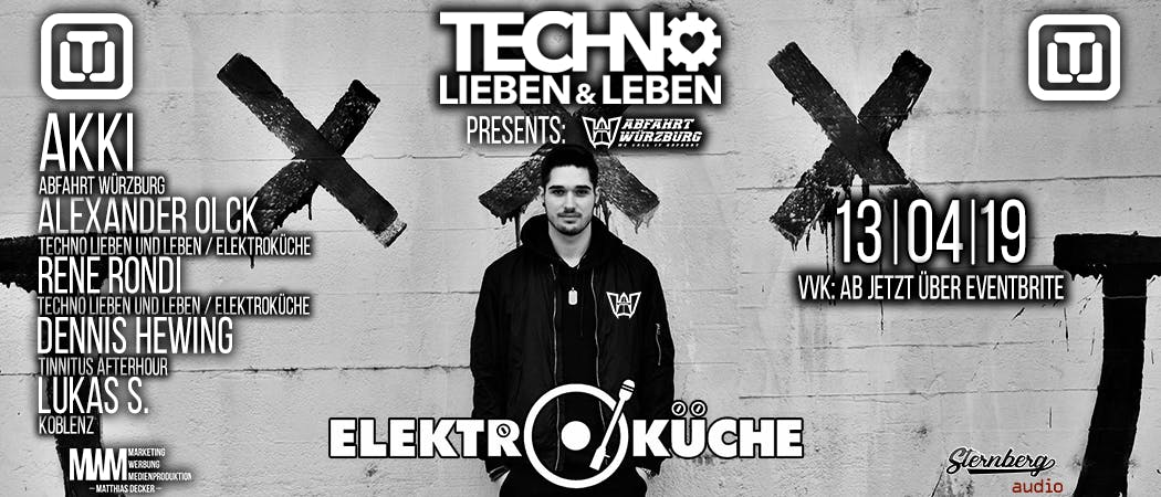 Techno Lieben & Leben @Elektroküche Köln w/ A