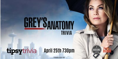 Greys Anatomy Trivia - April 25th 730pm Hudsons Red Deer