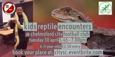 Kids Reptile Encounters at Chelmsford City FC (£2.50 entry)