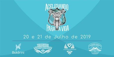 """""""ACELERANDO PARA A VIDA"""" 2019 ingressos"""
